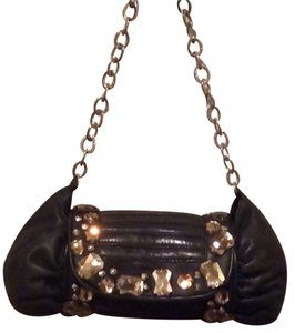 BCBGMAXAZRIA Embellished Lambskin Evening Shoulder Bag