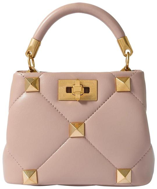 Item - Roman Stud Pink Quilted Leather Tote
