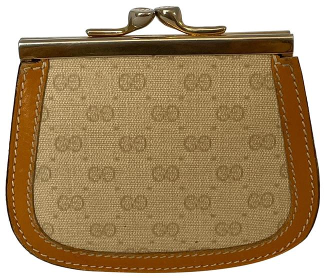 Item - Canvas and Leather Coin Purse Wallet