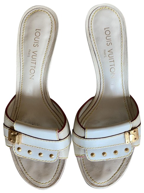 Item - Off White and Gold Fabuleuse Mules/Slides Size EU 36 (Approx. US 6) Regular (M, B)
