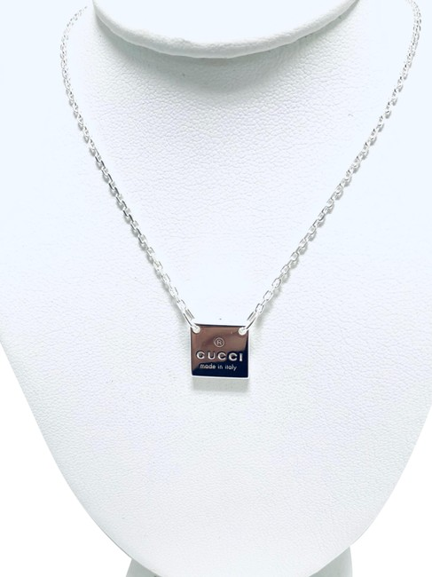 Item - Trademark Sterling Silver Square Charm Necklace