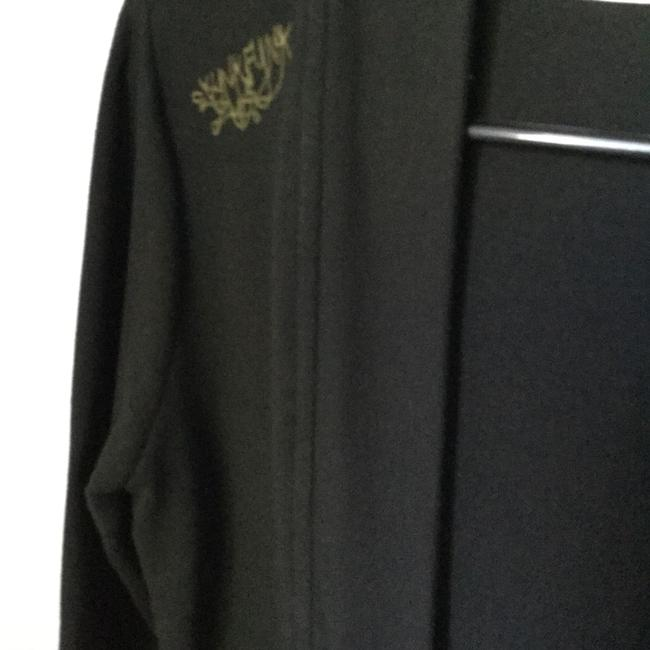 Skunkfunk Gots Certified Sexy Expose Wrap Holistic Flirty Date Night Night Out Day Travel Black * Bamboo * Environmentally-Friendly Fabric w/Gold Design * Top Or Jacket Image 3