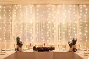 800 Light 20' Chiffon Backdrop Curtain