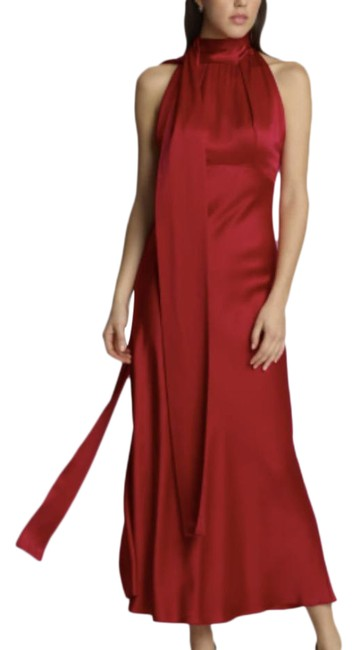 Item - Red Cherry Silk Michelle Cocktail Dress Size 6 (S)