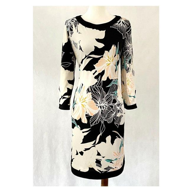 Item - Multicolor Jersey Floral Knit Mid-length Work/Office Dress Size 8 (M)