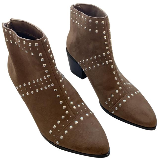 Item - Brown Studded Boots/Booties Size US 6 Regular (M, B)