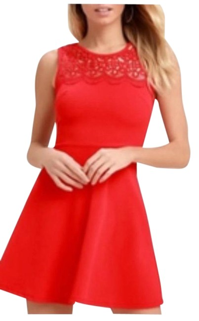 Item - Red According To Love Crochet Short Cocktail Dress Size 0 (XS)