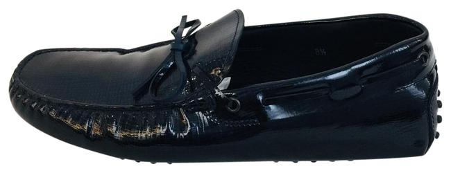 Item - Navy Men Blue Gommino Patent-leather Loafers Flats Size US 8.5 Regular (M, B)