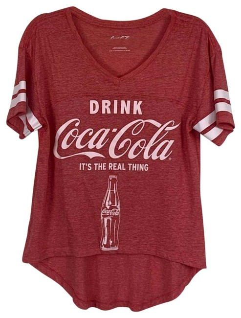 Item - Red Distressed Graphic Large Tee Shirt Size 12 (L)
