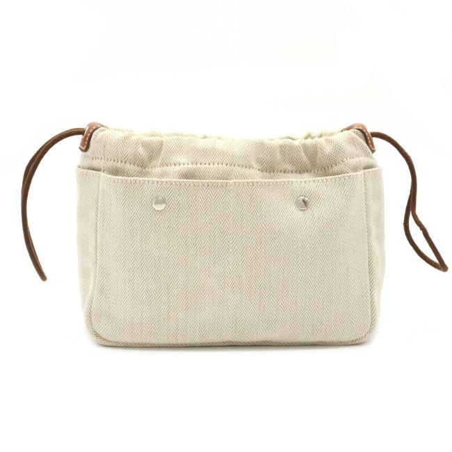Item - Furubi 20 Bag-in-bag Makeup Pouch Multi-pouch Holder Vovalenia Brown / Natural / Natural Toile Chevron / Barenia Leather Clutch