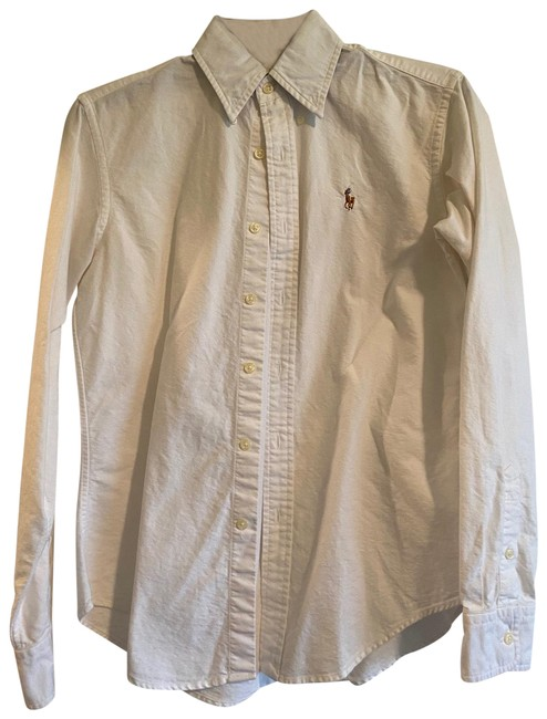 Item - White Classic Fit Oxford Button-down Top Size 2 (XS)