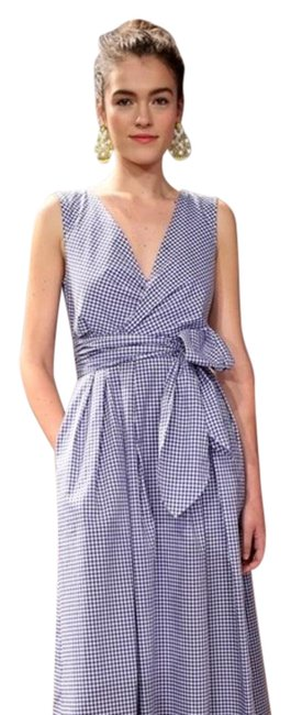 Item - Blue White Nwot Collection Gingham Long Casual Maxi Dress Size 6 (S)
