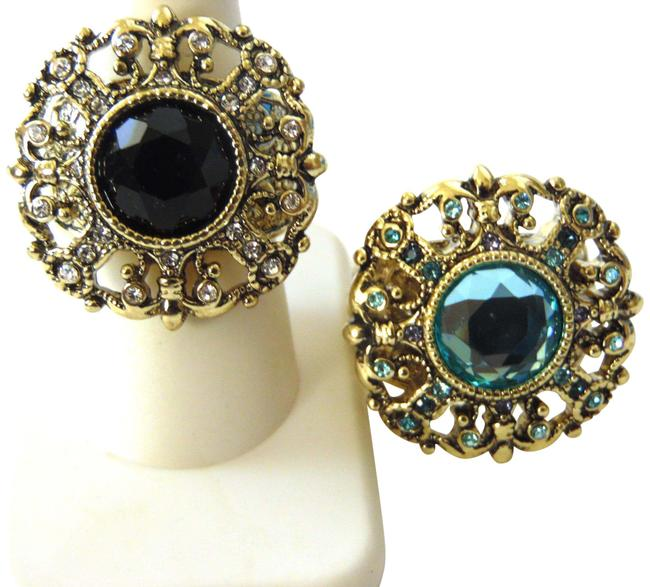 """Item - Bronzetone """"How Suite It Is"""" 2-piece Set Size 9 Ring"""
