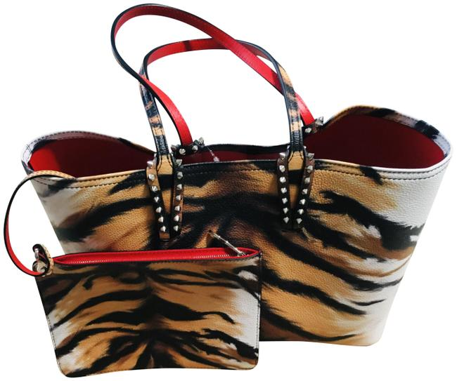Item - Medium Cabata Tiger Print Multicolor Leather/Synthetic Tote