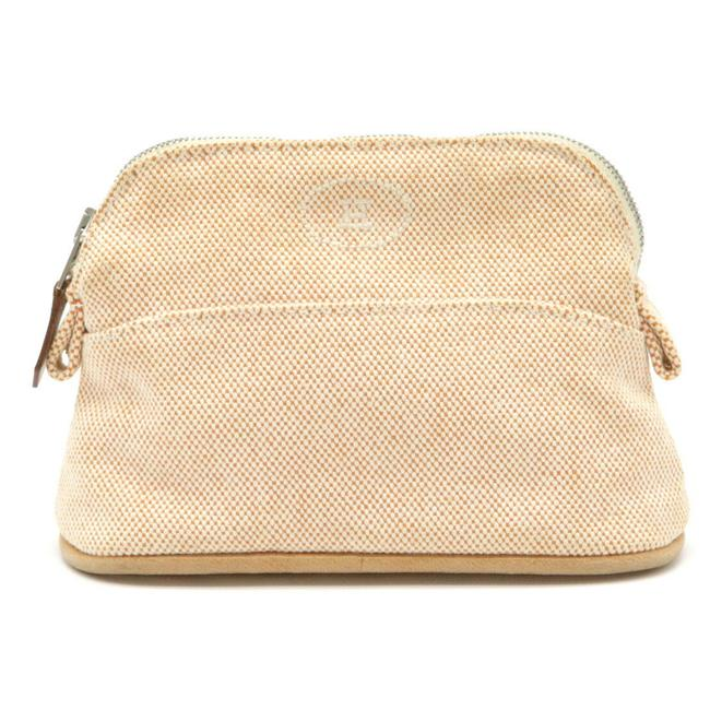 Item - Bolide Pouch Case Multi-pouch Ivory / Orange Canvas / Leather Clutch