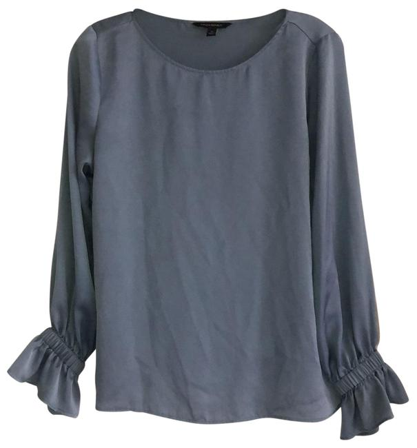 Item - Blue Pullover Flared Sleeve Blouse Size 4 (S)