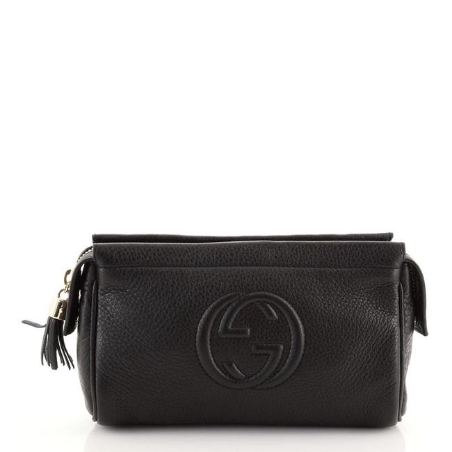 Item - Toiletry Pouch Soho Small Black Leather Clutch