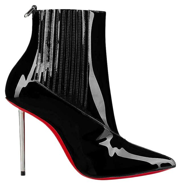Item - Black Epic 100 Patent Leather Ankle Metal Heels Boots/Booties Size EU 39 (Approx. US 9) Regular (M, B)