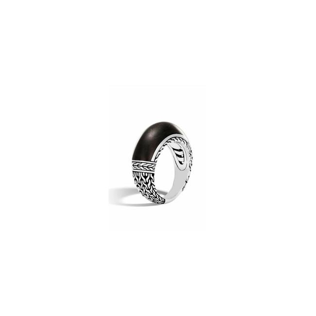 Item - Silver Chain Jet Ring