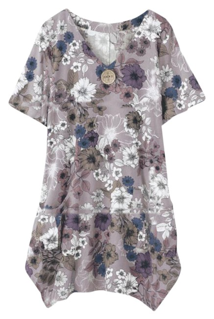 Item - Pink Easy Breezy Linen Blend New Tunic Size 6 (S)