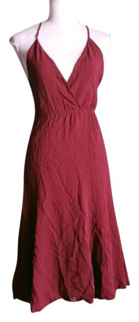 Item - Red Burgundy Sleeveless Strappy Short Casual Dress Size 0 (XS)
