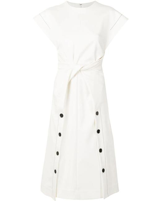 Item - Off-white Twist Front Mid-length Formal Dress Size 8 (M)