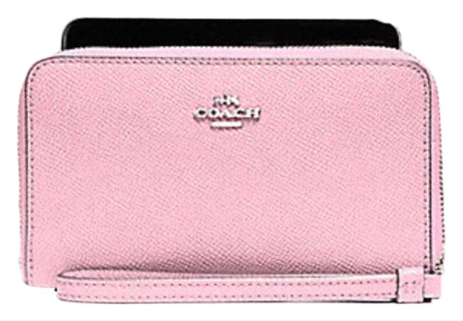 Item - Blush Pink Phone with Checker Heart Print F25963 Wallet