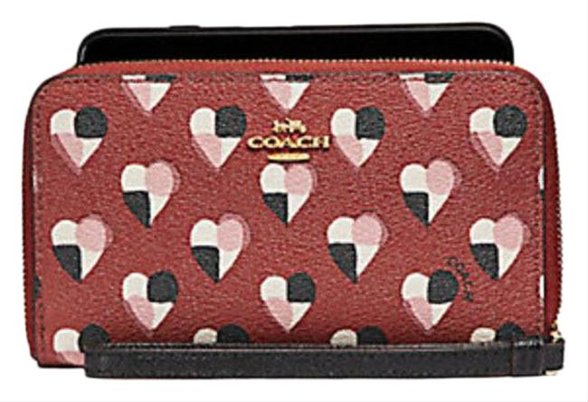 Item - Multicolor Phone with Checker Heart Print F25963 Wallet