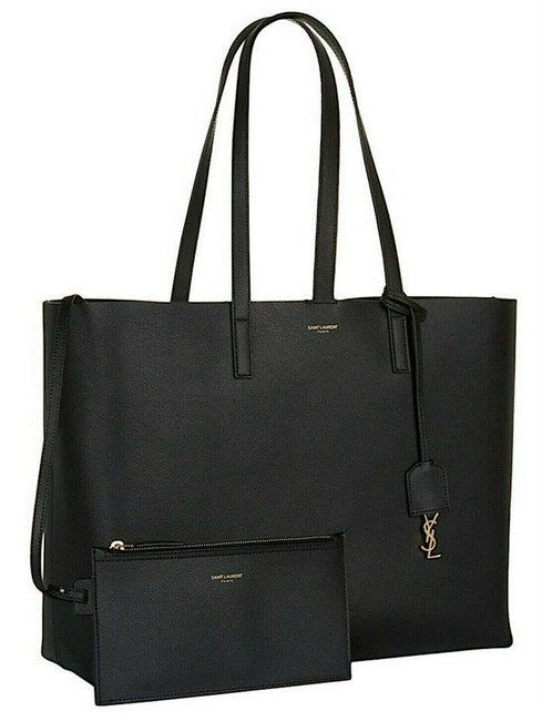 Item - Monogram Shopping Clutch New Ysl Pc Pouch Purse Black Leather Tote