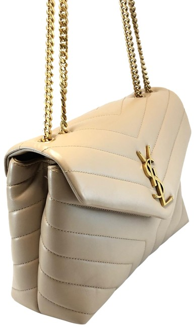 Item - Monogram Loulou Quilted Small Beige Leather Shoulder Bag