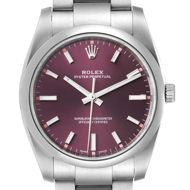 Item - Red Grape Box Oyster Perpetual 34mm Dial Mens 114200 Card Watch