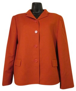 Jaeger Wool Angora Soft Designer Orange Blazer