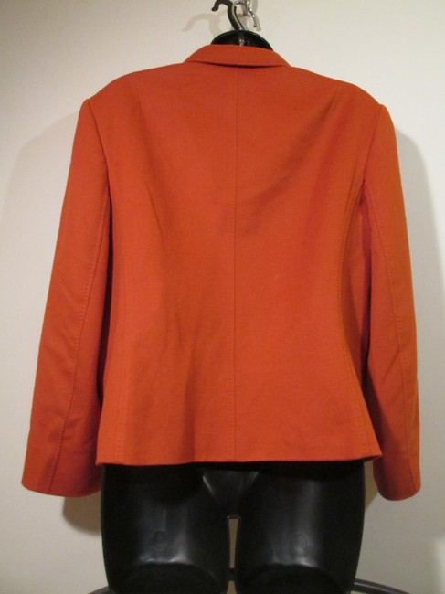 Jaeger Wool Angora Soft Designer Comfortable Orange Blazer