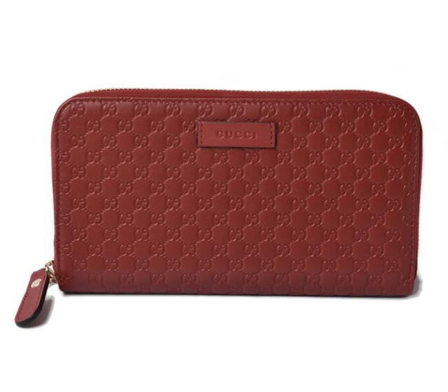 Item - Red Color Long Micro Shima Rouge 449391 Outlet Wallet