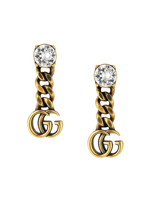 Item - Gold Marmont Gg Crystal Earrings