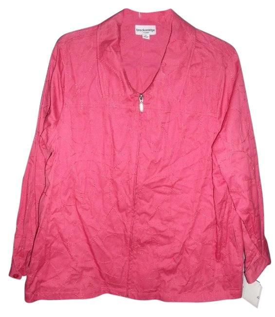 Breckenridge Embroidered Collared Zip Front Spring Coral Spiced Coral Jacket