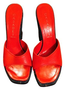 Casadei Red Wedges