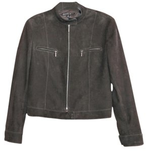 Lafayette 148 New York Chocolate Brown Leather Jacket