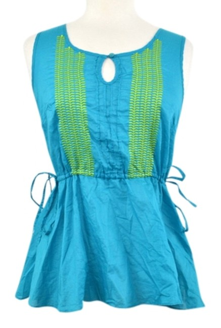Preload https://item2.tradesy.com/images/calypso-st-barth-for-target-aquablueturquoise-exclusive-summer-blouse-size-6-s-2948101-0-0.jpg?width=400&height=650