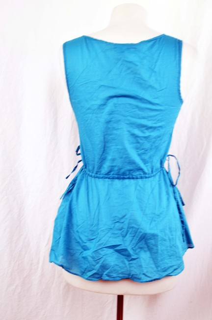 Calypso St. Barth for Target Summer Beach Wear Beach Lightweight Side Tie Top Aqua/Blue/Turquoise
