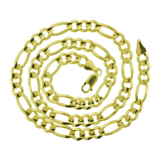 Item - 14k Yellow Gold 7.1mm Solid Figaro Link Chain 20'' Necklace