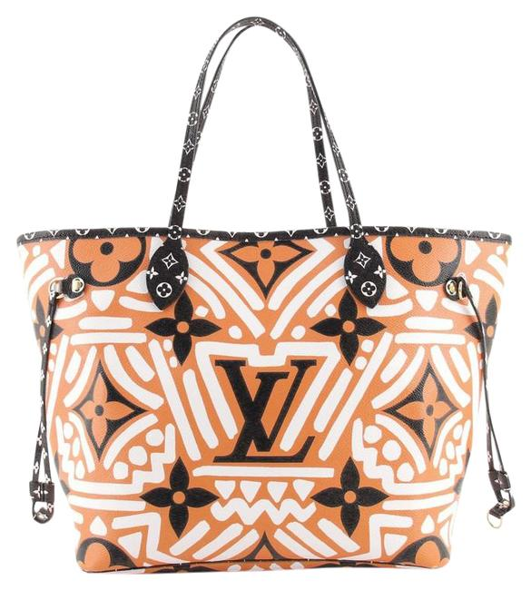 Item - Neverfull Nm Limited Edition Crafty Monogram Giant Mm Multicolor Orange Print Coated Canvas Tote