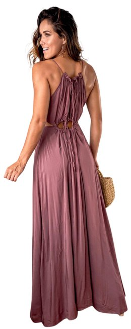 Item - Red Dusty Brick Long Casual Maxi Dress Size 6 (S)