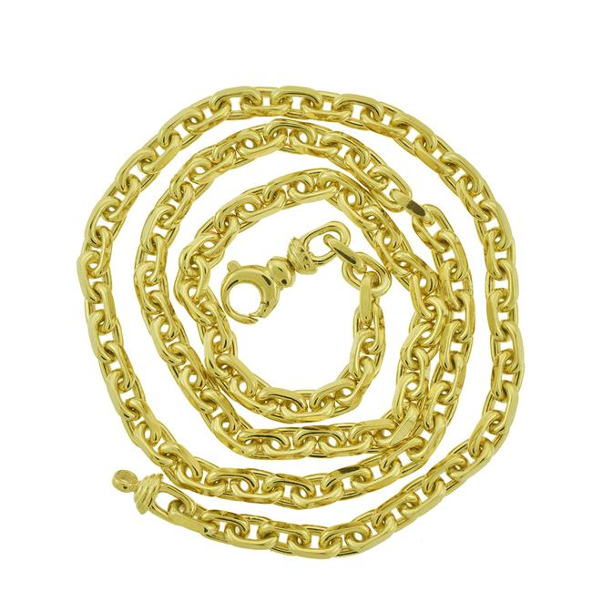 Item - 14k Yellow Gold 5.2mm Solid Anchor Mariner Link Chain 24'' Necklace