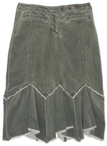 Anthropologie Corduroy Skirt Green