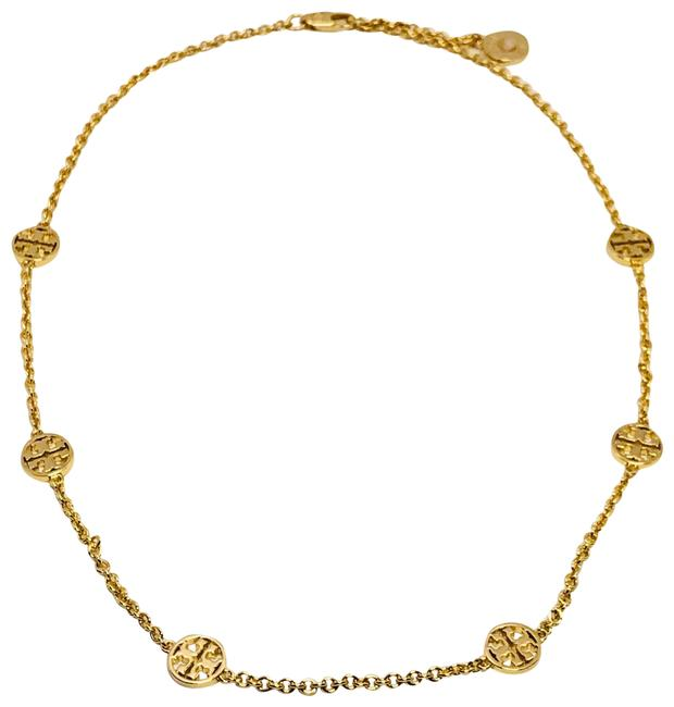 Item - Gold T Delicate Logo Double Necklace