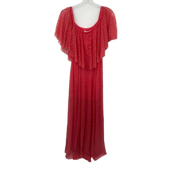 LIKELY Red Blaine Flamingo Embroidered Ruffle Off The Shoulder Short Casual Dress Size 4 (S) LIKELY Red Blaine Flamingo Embroidered Ruffle Off The Shoulder Short Casual Dress Size 4 (S) Image 1
