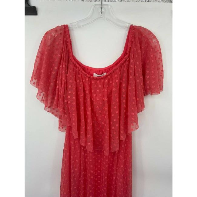 LIKELY Red Blaine Flamingo Embroidered Ruffle Off The Shoulder Short Casual Dress Size 4 (S) LIKELY Red Blaine Flamingo Embroidered Ruffle Off The Shoulder Short Casual Dress Size 4 (S) Image 2