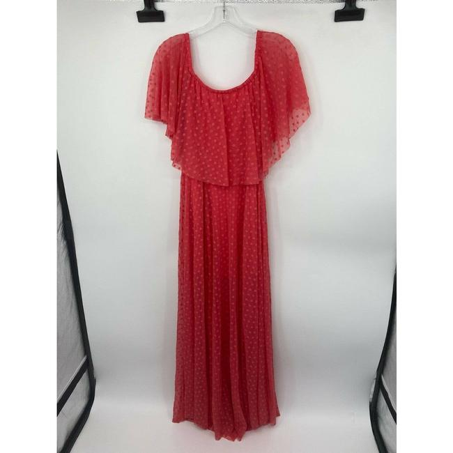 LIKELY Red Blaine Flamingo Embroidered Ruffle Off The Shoulder Short Casual Dress Size 4 (S) LIKELY Red Blaine Flamingo Embroidered Ruffle Off The Shoulder Short Casual Dress Size 4 (S) Image 4