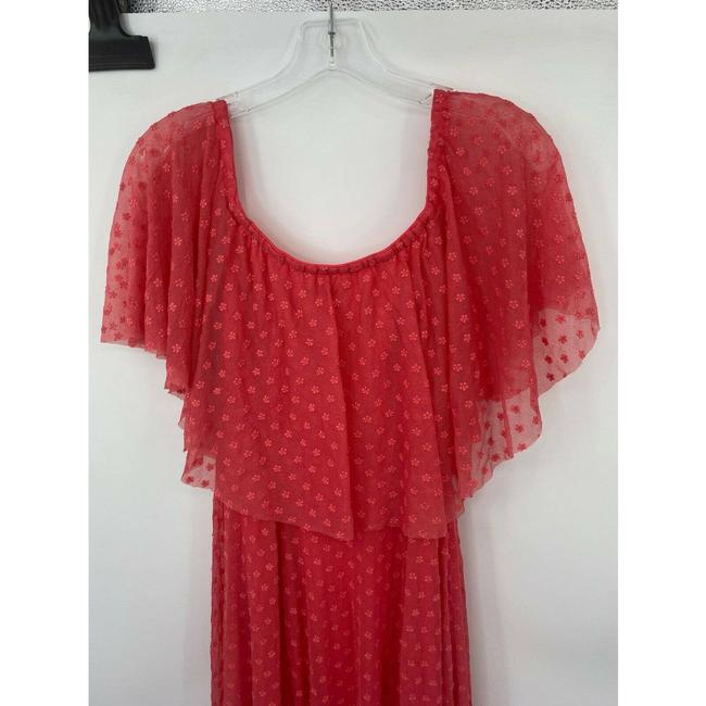 LIKELY Red Blaine Flamingo Embroidered Ruffle Off The Shoulder Short Casual Dress Size 4 (S) LIKELY Red Blaine Flamingo Embroidered Ruffle Off The Shoulder Short Casual Dress Size 4 (S) Image 5